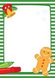 Marco de la Navidad con las rayas de la galleta A3 Foto de archivo libre de regalías