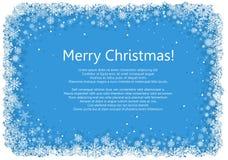 Marco de la Navidad con los copos de nieve Imágenes de archivo libres de regalías