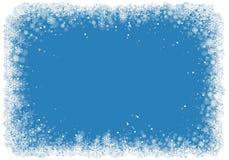 Marco de la Navidad con los copos de nieve Foto de archivo libre de regalías