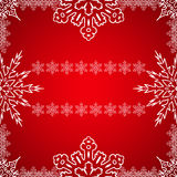 Marco de la Navidad con los copos de nieve en el borde Fotos de archivo libres de regalías