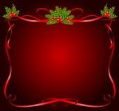 Marco de la Navidad de cintas stock de ilustración