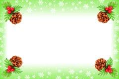 Marco de la Navidad de la baya del acebo Imagenes de archivo