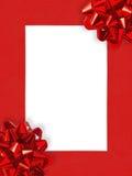Marco de la Navidad de Ribbons&Bows Fotos de archivo libres de regalías