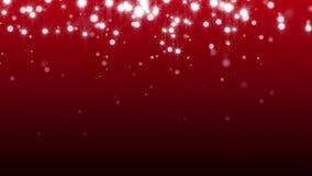 Marco de la Navidad en rojo Tarjeta del invierno con los copos de nieve, las estrellas y la nieve que brillan intensamente Fondo  ilustración del vector
