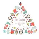 Marco de la Navidad para el texto Imagen de archivo libre de regalías
