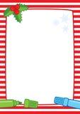 Marco de la Navidad y rayas de los marcadores A3 Fotografía de archivo libre de regalías