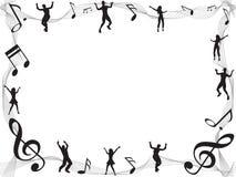 Marco de la nota de la música con el copyspace Imagen de archivo libre de regalías