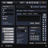 Marco de la obscuridad del diseño de Web Foto de archivo