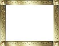 Marco de la onda del oro Ilustración del Vector