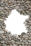 Marco de la pared de piedra con el agujero vacío Png disponible fotos de archivo