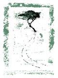 Marco de la pintura del árbol de Grunge Fotografía de archivo