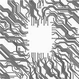 Marco de la placa de circuito Imagen de archivo