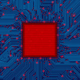 Marco de la placa de circuito Imagenes de archivo