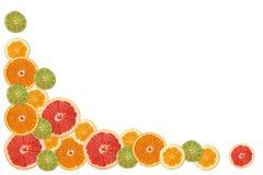 Marco de la rebanada de la fruta cítrica fotos de archivo libres de regalías