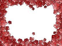 Marco de la tarjeta de felicitación hecho de las flores Imágenes de archivo libres de regalías