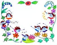 Marco de la tarjeta de felicitación Imagen de archivo