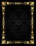 Marco de la tarjeta de la invitación y fondo ornamentales del damasco Imagenes de archivo