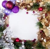 Marco de la tarjeta de Navidad Foto de archivo libre de regalías