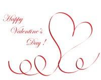 Marco de la tarjeta del día de San Valentín Fotos de archivo