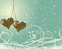 Marco de la tarjeta del día de San Valentín Foto de archivo