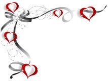 Marco de la tarjeta del día de San Valentín Foto de archivo libre de regalías