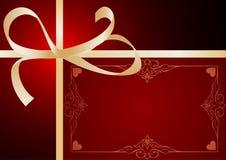 Marco de la tarjeta del día de San Valentín Fotografía de archivo