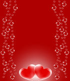 Marco de la tarjeta del día de San Valentín Imagen de archivo