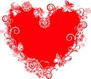Marco de la tarjeta del día de San Valentín de Grunge, corazón, vector Fotografía de archivo libre de regalías