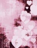 Marco de la tarjeta del día de San Valentín del grunge de la vendimia Foto de archivo