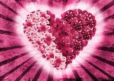 Marco de la tarjeta del día de San Valentín del St Fotos de archivo libres de regalías