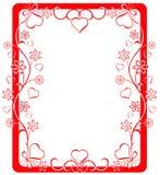 Marco de la tarjeta del día de San Valentín, vector Imagen de archivo libre de regalías