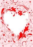 Marco de la tarjeta del día de San Valentín Imagen de archivo libre de regalías