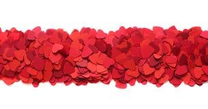 Marco de la tarjeta de felicitación de día de San Valentín foto de archivo