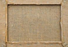 Marco de la textura de la arpillera para su fondo Fotografía de archivo libre de regalías