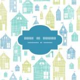 Marco de la textura de la materia textil del verde azul de las casas inconsútil Imagen de archivo libre de regalías