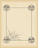 Marco de la vendimia con las caras del círculo libre illustration