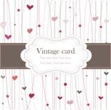 Marco de la vendimia con los corazones Foto de archivo libre de regalías