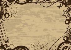 Marco de la vendimia de Grunge Imagenes de archivo