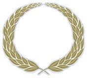 Marco de la vendimia de la guirnalda de las hojas Imagen de archivo