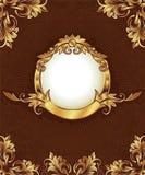 Marco de la vendimia del oro stock de ilustración