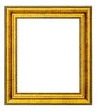 Marco de la vendimia del oro Fotos de archivo