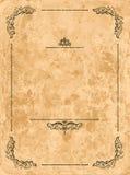 Marco de la vendimia en la hoja de papel vieja Imágenes de archivo libres de regalías