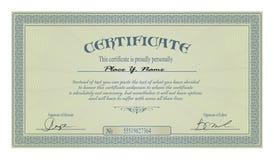Marco de la vendimia o modelo del certificado