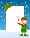 Marco de la vertical del duende de la Navidad Imagenes de archivo