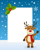 Marco de la vertical del reno de la Navidad Imagen de archivo