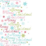 Marco de la vertical del texto de la Feliz Navidad del vector Imagen de archivo