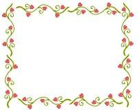 Marco de la vid de la flor del corazón del día de tarjeta del día de San Valentín Imagenes de archivo