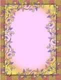 Marco de la vid y del azulejo Stock de ilustración