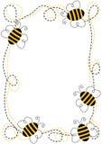 Marco de las abejas del vuelo Fotos de archivo libres de regalías