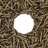 Marco de las balas del rifle Fotografía de archivo libre de regalías